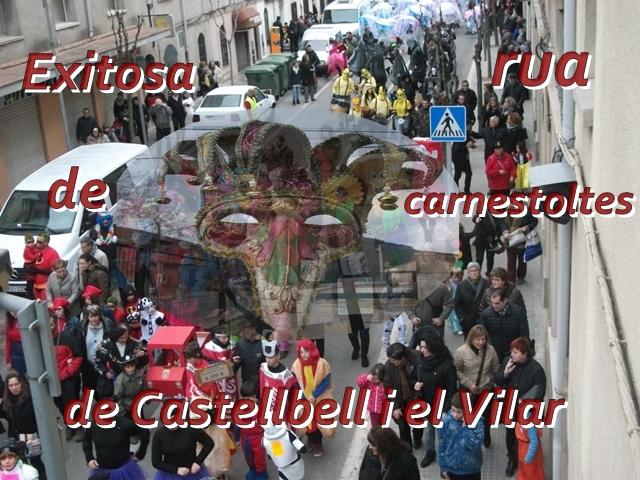 Exitosa rua de carnestoltes de Castellbell i el Vilar