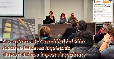 Les entitats  de Castellbell i el Vilar mostren les seves inquietuds davant del nou impost de societats