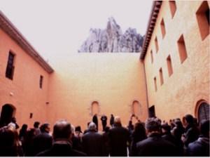 Un moment del parlament de Salvador Esteve, durant l'acte d'inauguració de les obres del monestir de Santa Cecília de Montserrat Foto: Òscar Ferrer / Diputació de Barcelona