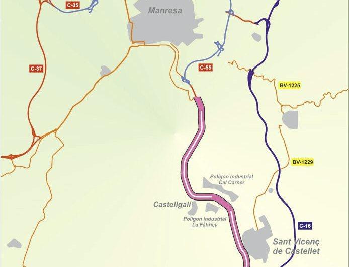 Comencen les obres de la c-55 entre Manresa i Castellbell i el Vilar