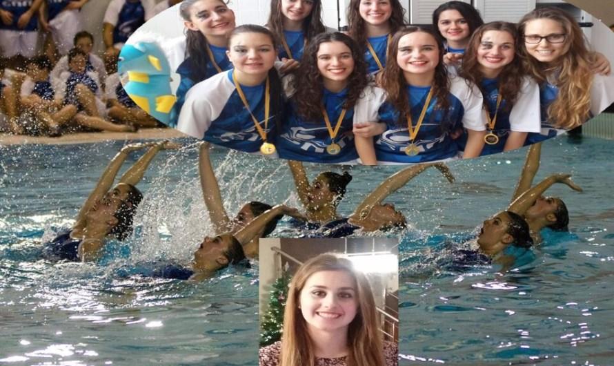 La nedadora castellvilarenca de sincro Andrea Blanco aconsegueix l'Or amb les seves companyes del C.N. MINORISA en la jornada de Rutines d'Equip.