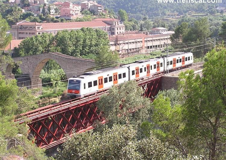 Finalitza la rehabilitació del pont d'FGC, a Castellbell i el Vilar