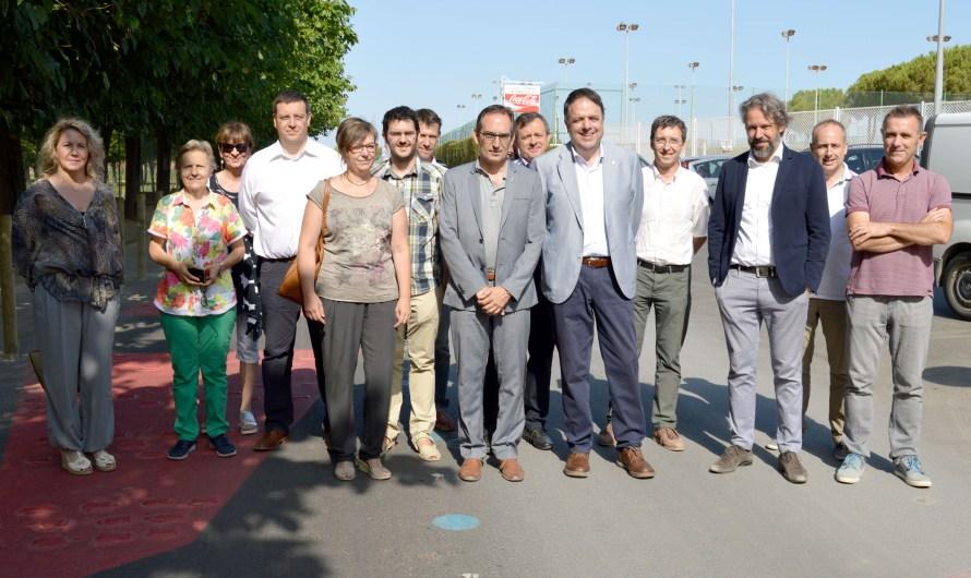 S'inauguren les obres de remodelació del Camí de  Sant Fruitós, a l'entorn del Parc de l'Agulla