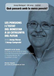 Cartell - Xerrada pensions