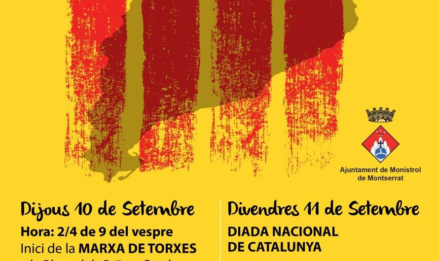 Monistrol de Montserrat celebrarà els actes de l'11 de setembre