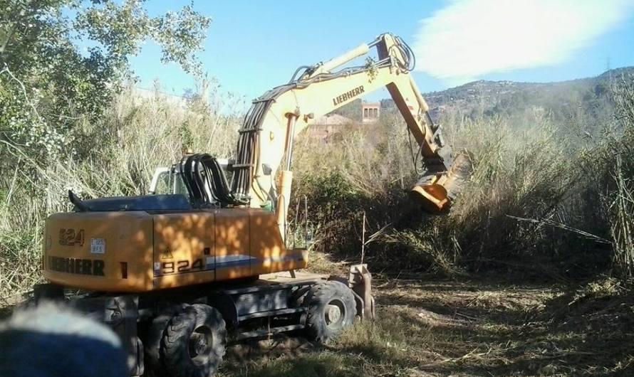 Comencen les obres de neteja de la llera del riu llobregat al seu pas per la bauma a Castellbell i el Vilar