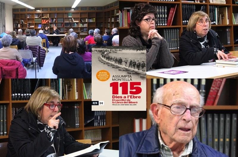 La historiadora Assumpta Montella ilustra a Castellbell i el Vilar la cruesa de «la Batalla del Ebre»