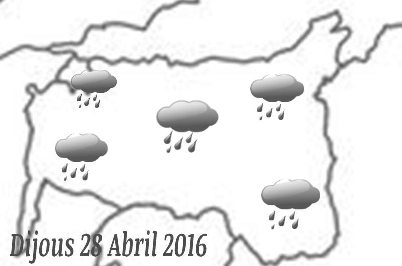 Aquest dijous tornen les pluges.