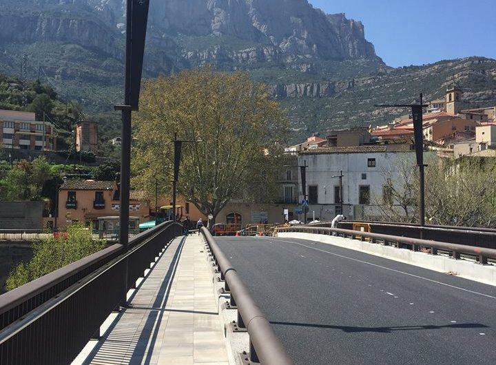 Monistrol de Montserrat inaugura les obres del «Pont Gòtic»