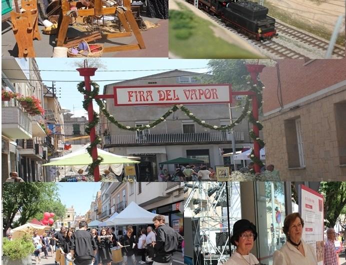 Èxit de públic a la vuitena edició de la «Fira del vapor» a Sant Vicenç de Castellet.