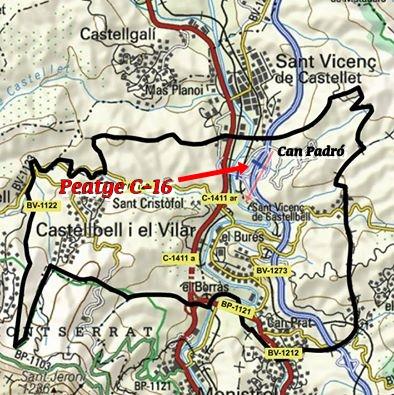 Planol Castellbell i el Vilar Peatge