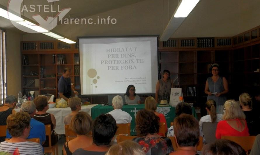 L´antiga biblioteca maria malla (Borràs) s'omple per la xerrada sobre la hidratació i la protecció del sol.