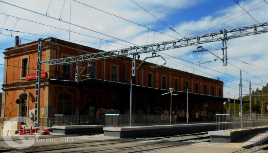 Les obres de millora de l'estació Renfe/Adif de Castellbell i el Vilar finalitzades.