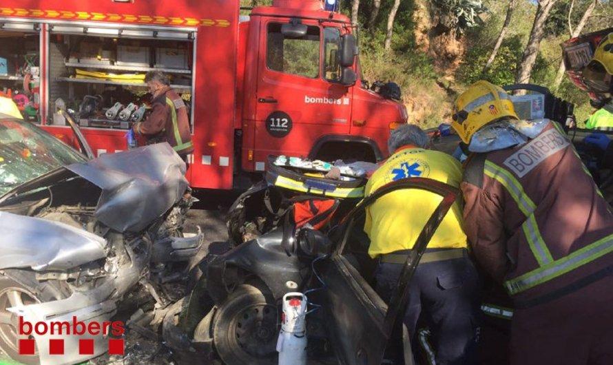 Cinc persones ferides en un accident a la C-58 a la Bauma( Castellbell i el Vilar)