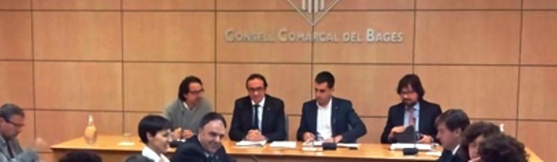 El conseller Rull es reuneix amb alcaldes del Bages.