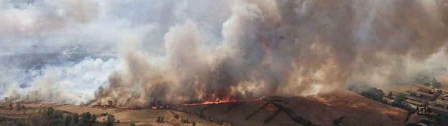 Així va ser com els bombers van extingir l'incendi de Sant Fruitós de Bages.