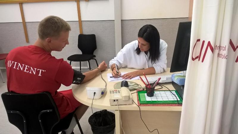 Els jugadors de l'ICL Manresa es fan al Cimetir les proves especialitzades en medicina de l'esport
