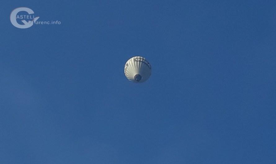 Un globus sobrevola Castellbell i el Vilar