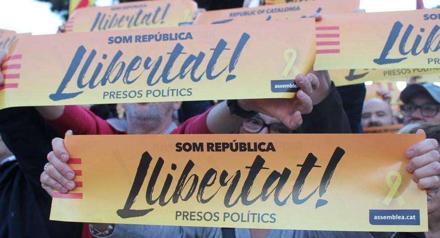 L'independentisme del Bages Sud, a la manifestació de la Diada de la democràcia