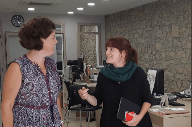 La delegada a la Cat Central es reuneix amb Montserrat Badia a Castellbell
