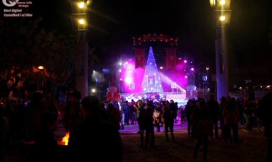 Castellbell encén el nadal, dedicant al conte del Trencanous