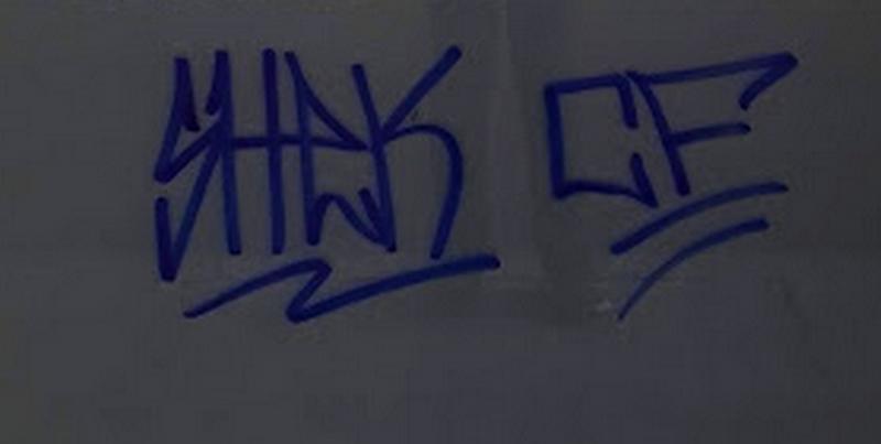 Pinten grafits a diferents llocs del Borràs.