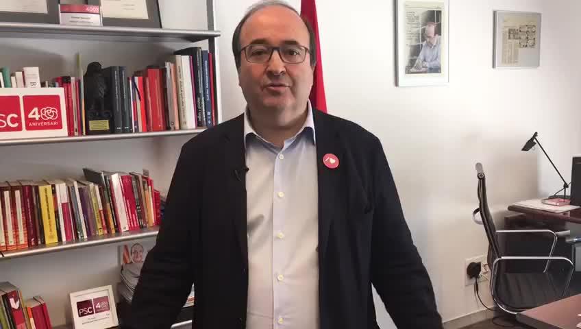 Miquel Iceta dóna suport a Montserrat Badia.