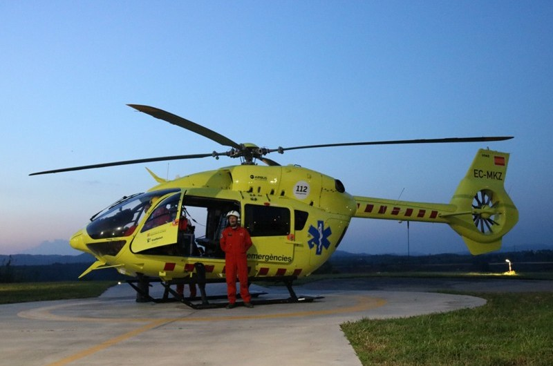El SEM implanta els vols nocturns amb helicòpters medicalitzats