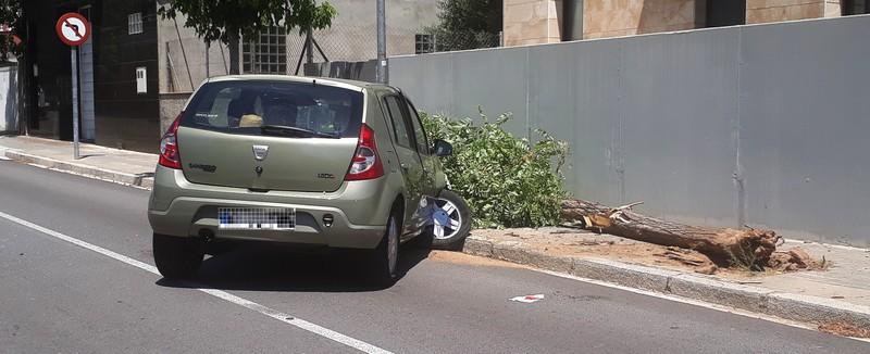 Ferida lleu, a un accident de trànsit al Borràs.