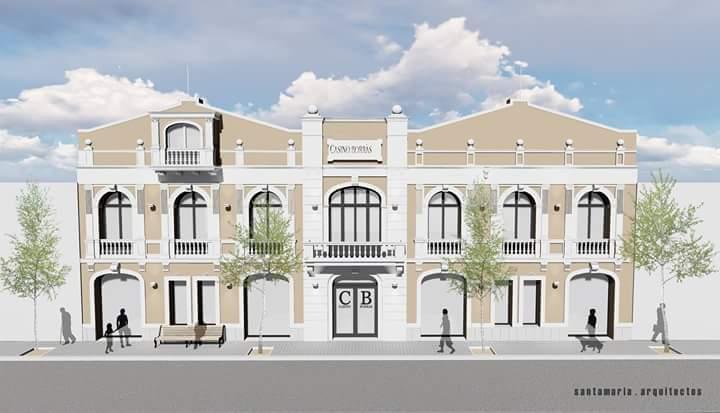 Remodelen la façana del Casino Borràs