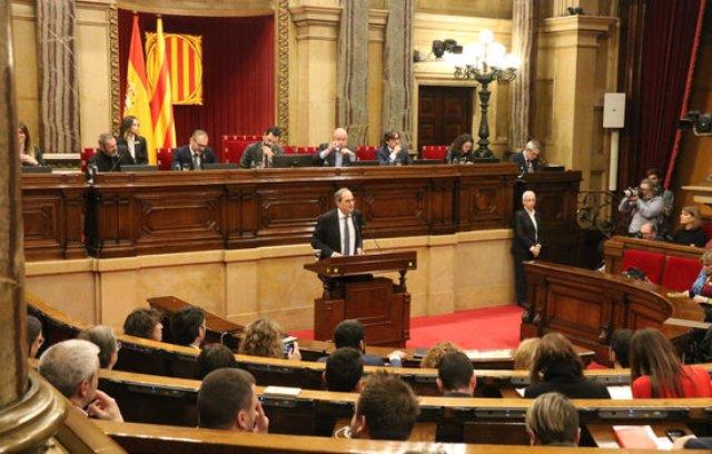 """El Parlament ratifica Torra com a president de la Generalitat i rebutja el """"cop d'estat"""" de la JEC"""