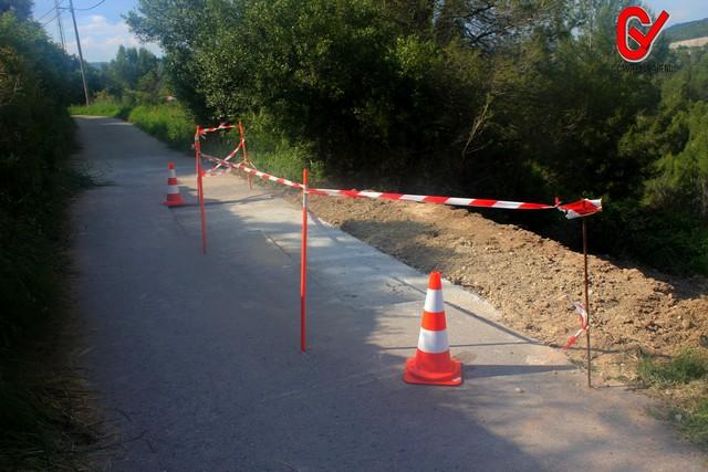 Arreglen un tram del camí Baix Vilar.