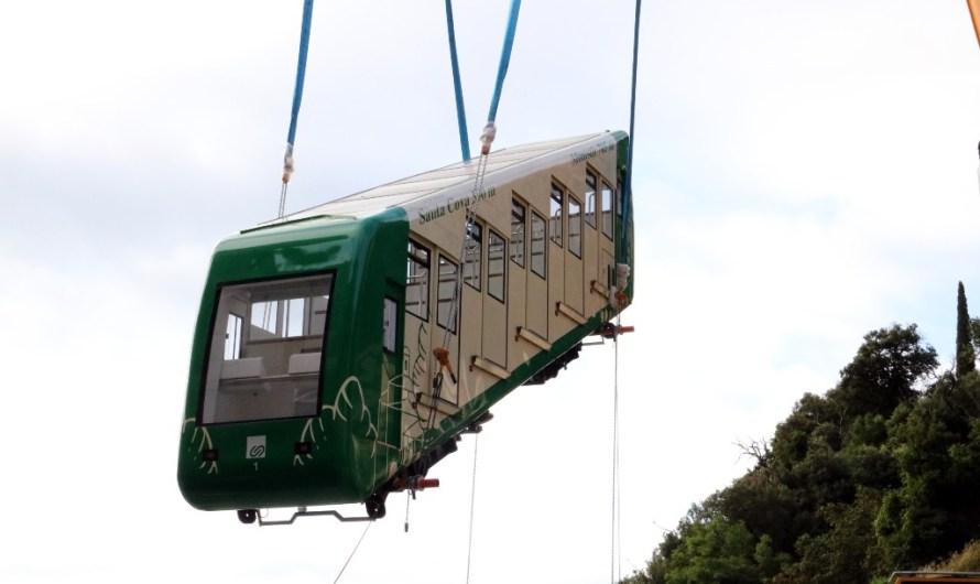 Montserrat recupera el funicular de la Santa Cova