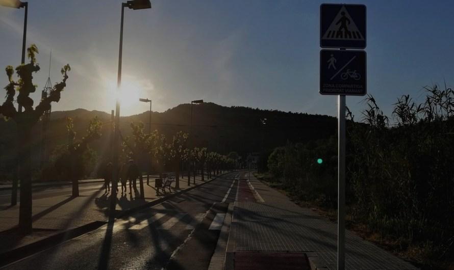 L'avinguda de Catalunya a Castellbell, oberta al trànsit.