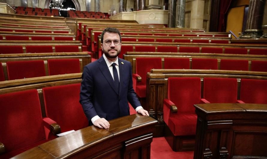 El Parlament investeix  Pere Aragonès com a 132è president de la Generalitat amb els vots d'ERC, JxCat i la CUP