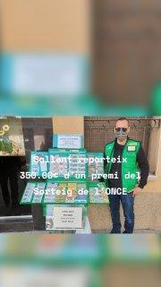 Sallent reparteix 350.00€ d'un premi del Sorteig de l'ONCE