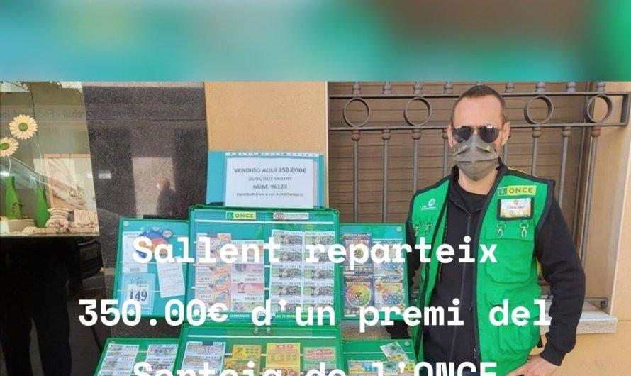 """Sallent reparteix 350.000€d""""un premi del sorteig de l'ONCE"""