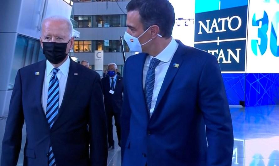 Titulars dels diaris d'avui dimarts 15 de juny:  La cimera de l'OTAN i la breu trobada entre Biden i Pedro Sánchez