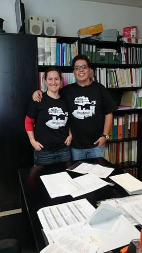 Bea Comendador e Felix González Ínsua. Arqueólogos