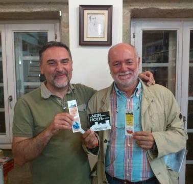 Miguel Anxo Prado. Debuxante e Xurxo Lobato. Fotógrafo