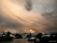 Storm recedes over St Jean de Losne, France