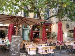 Pavement Cafe in Lyon, France