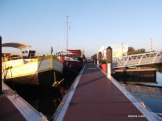 Olivier's boat at Aramon