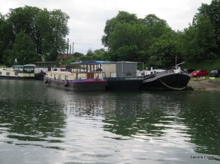 Mostly larger craft at the last Toul mooring