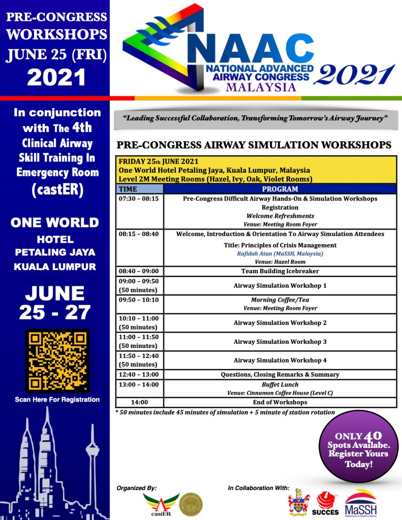 NAAC Msia 2021 Pre-Congress Airway Simulation Workshop