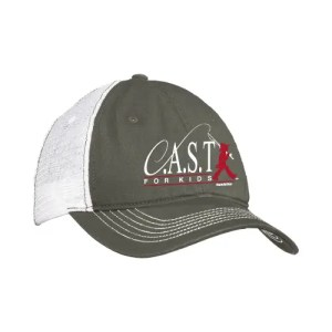 Gray & White CAST Baseball Cap