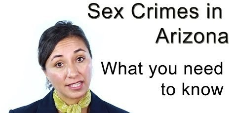 Video thumbnail for youtube video [Video] Sex Crimes in Ari explained by Criminal Defense Lawyer Cindy Castillo - Castillo Law