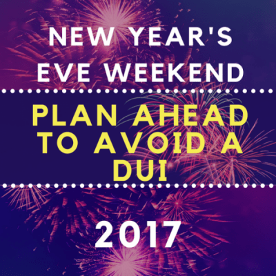 New Year's Weekend DUI's
