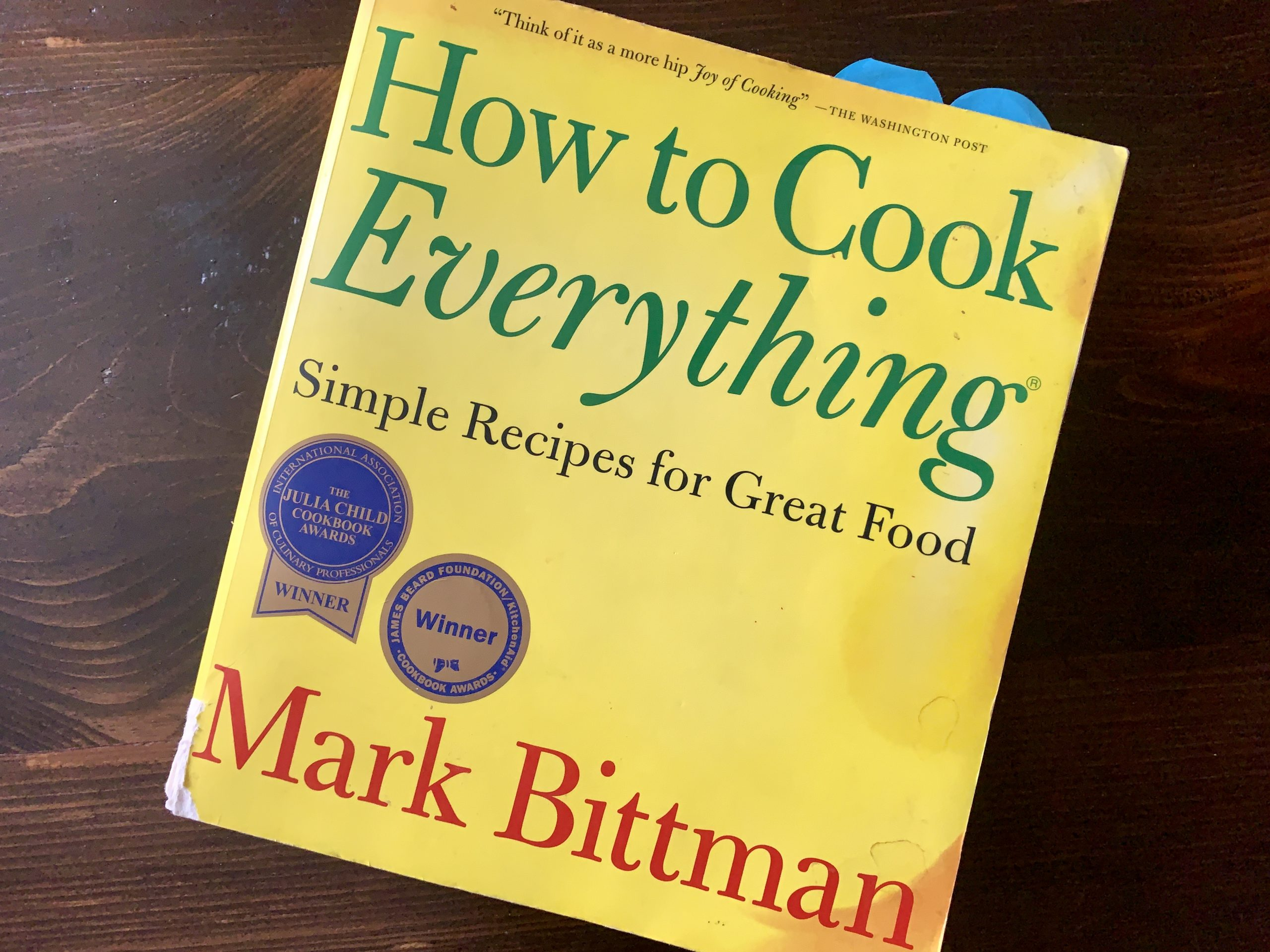 The front cover of a cookbook.