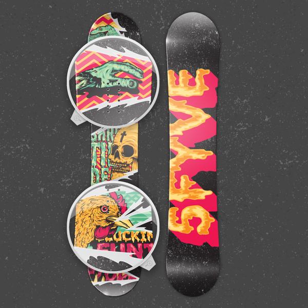 2013 Snowboard design